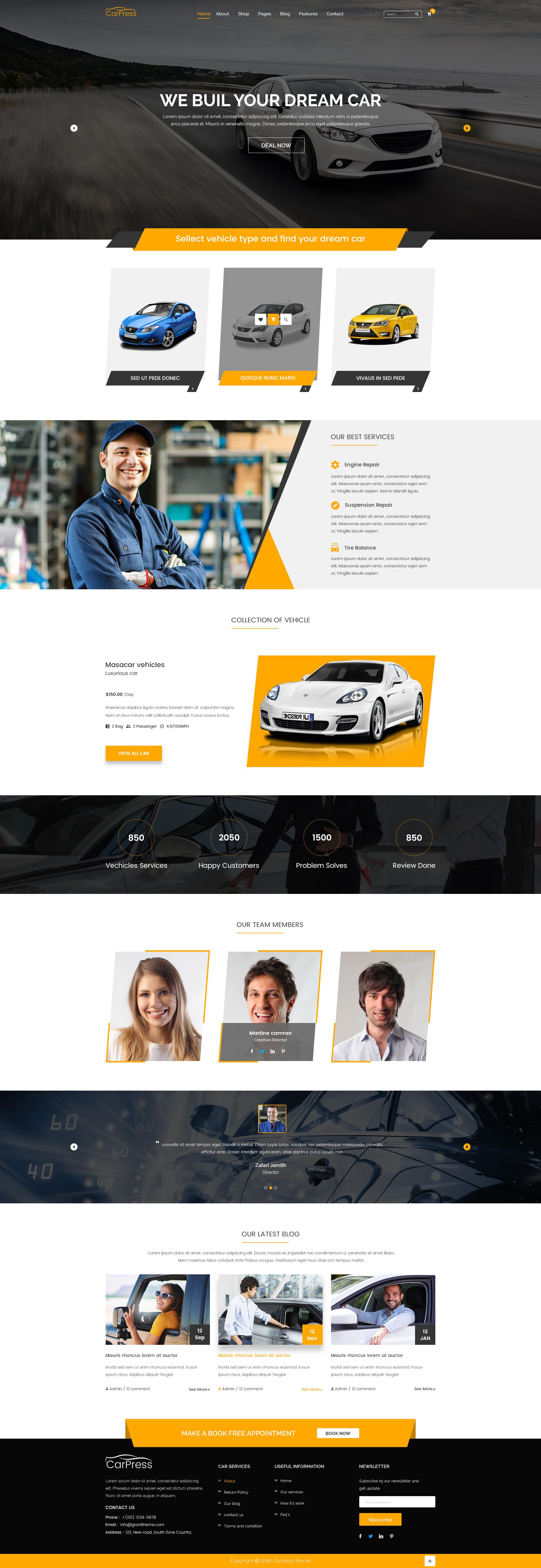 Carpress For Car Shop And Car Repiar Html5 Template By Radontheme