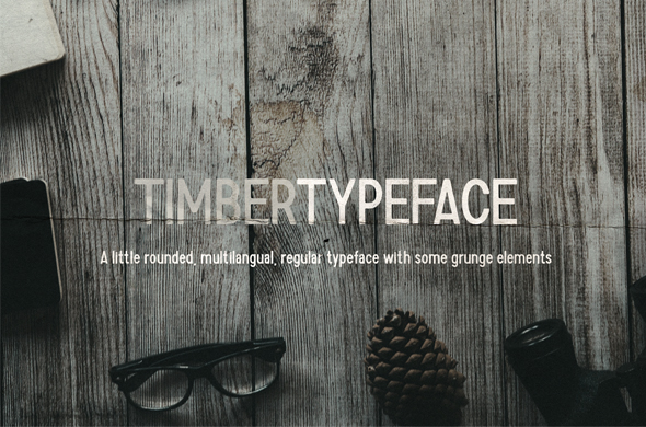 Timber Typeface - Condensed Sans-Serif