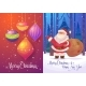 Christmas Greeting Card Background Poster. Vector - GraphicRiver Item for Sale