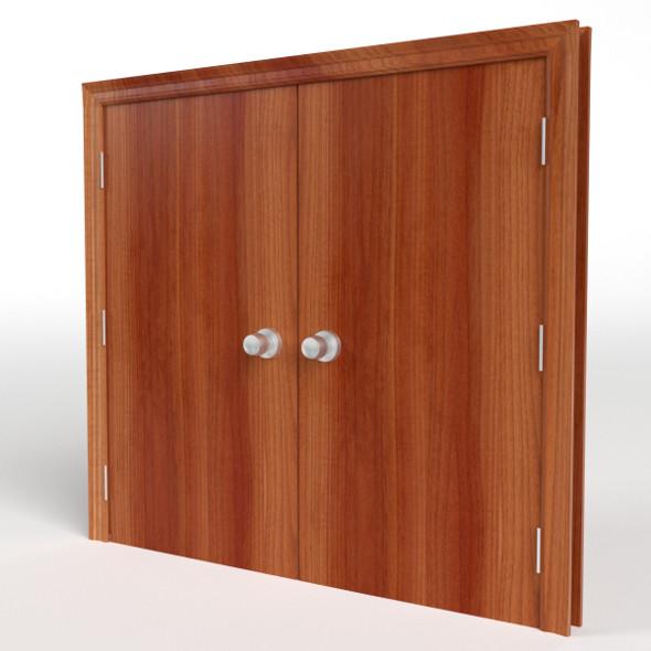 Double Flush Door - 3DOcean Item for Sale