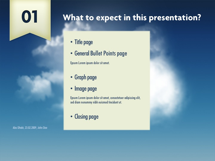 Clouds Powerpoint Template By Segen Graphicriver