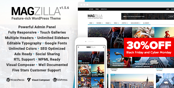 MagZilla - For Newspapers, Magazines and Blogs - News / Editorial Blog / Magazine