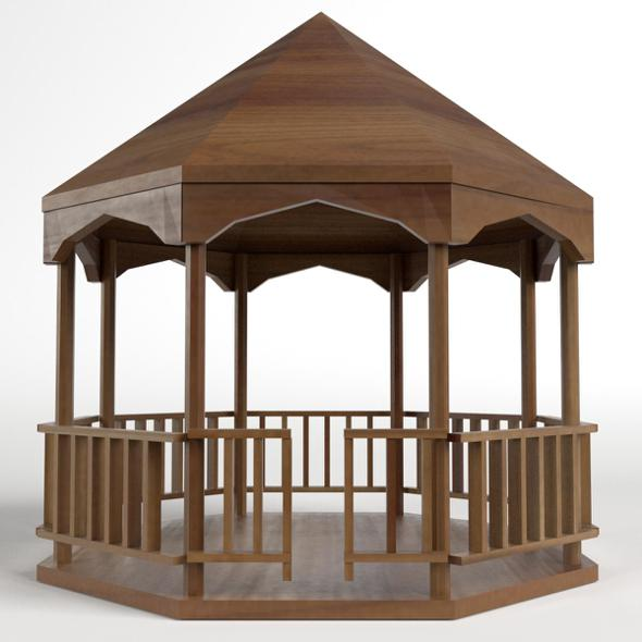 Garden Kiosk Outdoor Pavilion 2 - 3DOcean Item for Sale