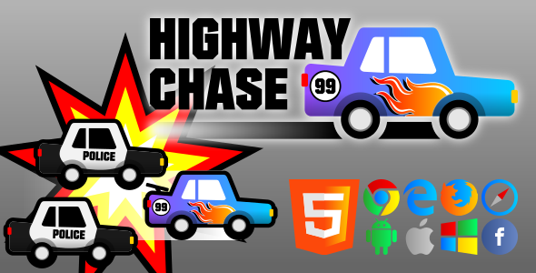 Highway Chase - HTML5 Game - CodeCanyon Item for Sale