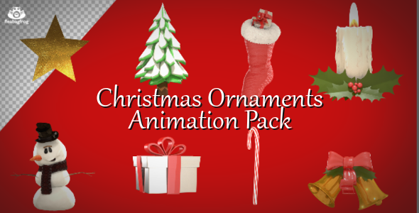 play preview video - Animated Christmas Ornaments