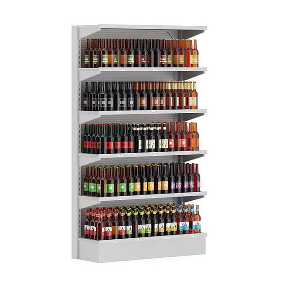 Market Shelf - Bottled Beer - 3DOcean Item for Sale