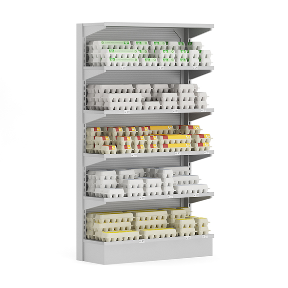 Market Shelf - Eggs - 3DOcean Item for Sale