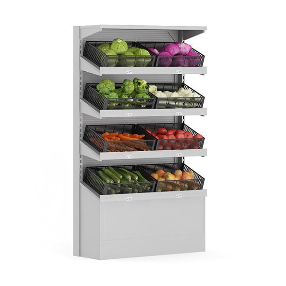 Market Shelf - Vegetables - 3DOcean Item for Sale