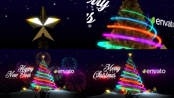 Christmas tree new year greetings by iconoclast videohive m4hsunfo