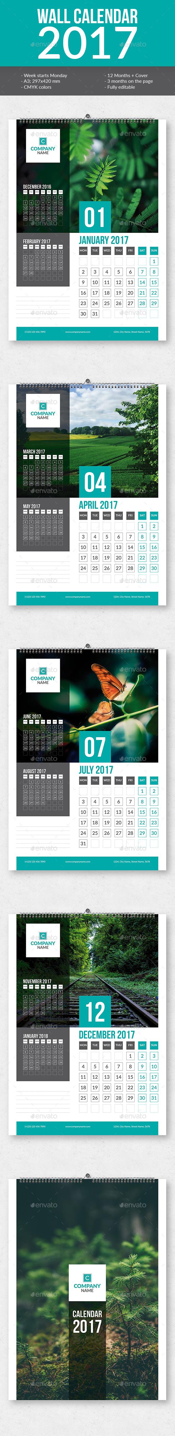 Wall Calendar 2017 - Calendars Stationery