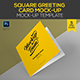 Square Greeting Card Mock up Template