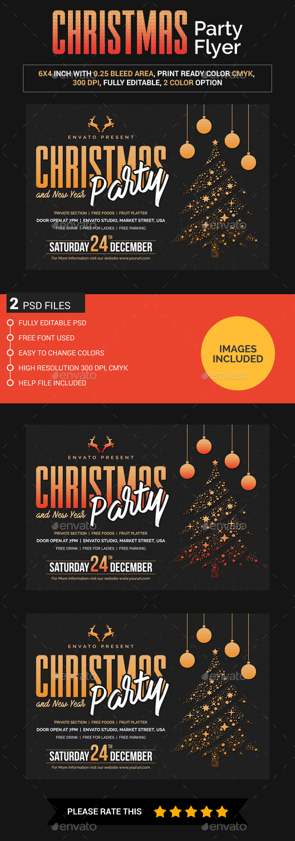 Christmas and New Year Flyer - Clubs & Parties Events