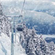 POV From Gondola In Snowfall - VideoHive Item for Sale