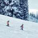 Family Snowboards Past In Snowfall - VideoHive Item for Sale
