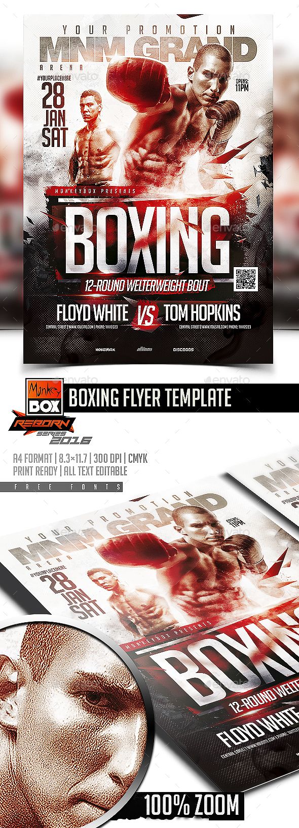 Boxing Flyer Template - Sports Events