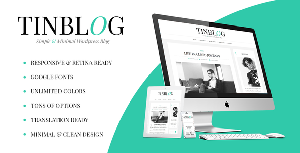 Tinblog – Minimal WordPress Blog Theme