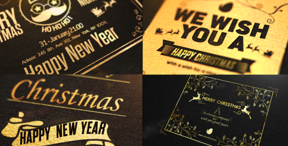 Christmas Golden Card
