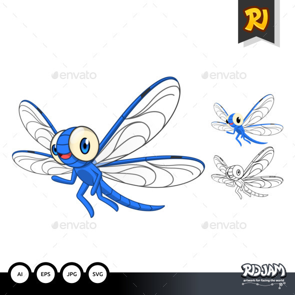Dragonfly Cartoon Character - Animals Characters