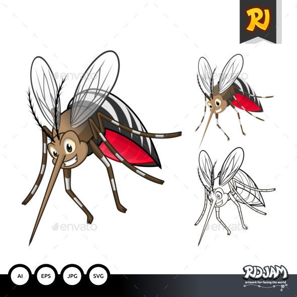 Mosquitoes Cartoon Character - Animals Characters
