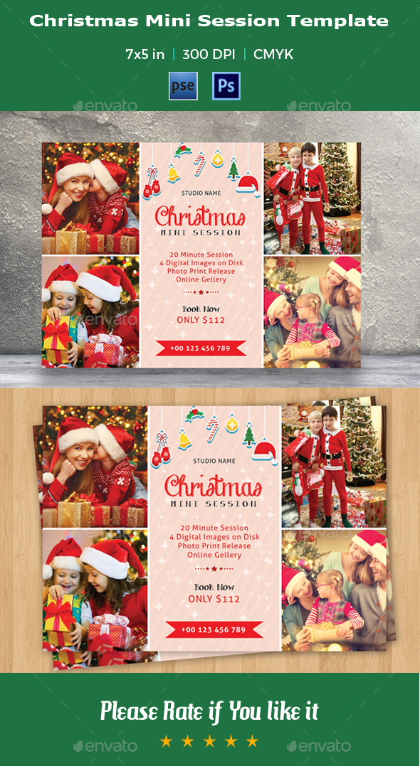 Christmas Mini Session Template-V02 - Events Flyers
