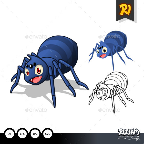 Spider Cartoon Character - Animals Characters