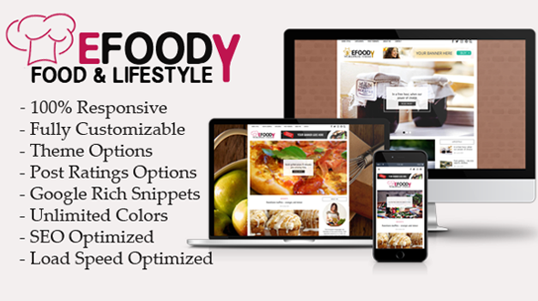 Efoody – Food and Lifestyle WordPress Theme