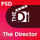 The Director - Film Director & Video Portfolio PSD Template - ThemeForest Item for Sale