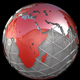 Red Steel Globe Rotate - VideoHive Item for Sale