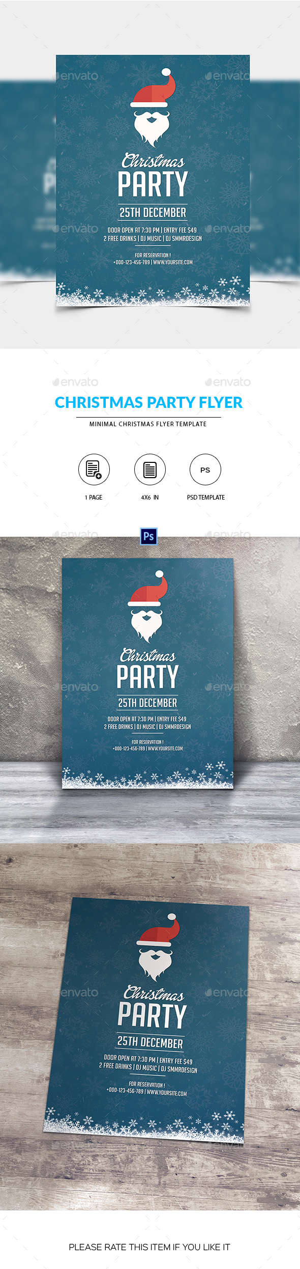 Santa Christmas Party Flyer - Clubs & Parties Events