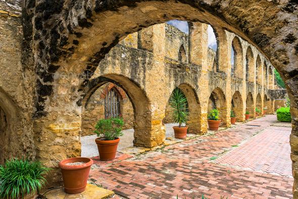 Mission in San Antonio - Stock Photo - Images