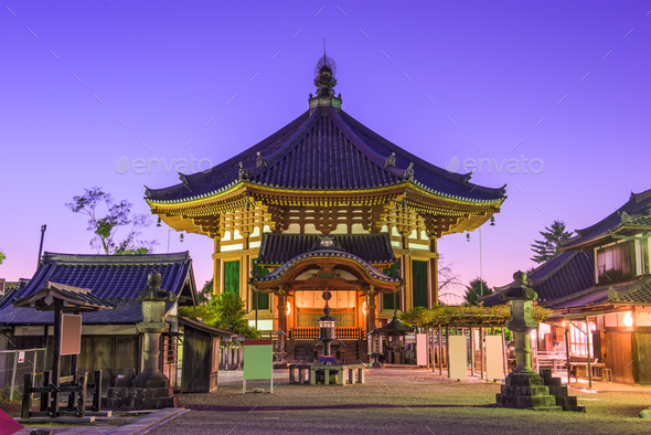 Temple in Nara - Stock Photo - Images