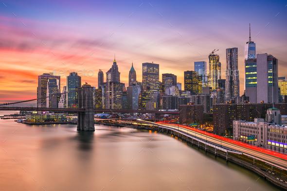 New York City Skyline - Stock Photo - Images