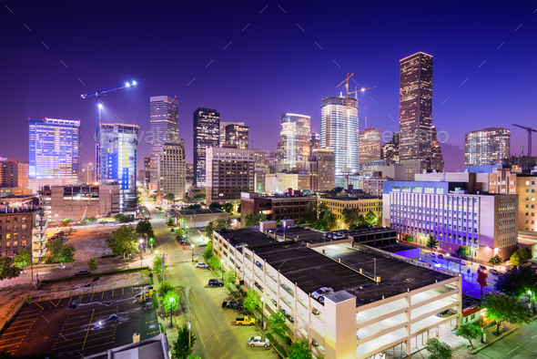 Houston, Texas Skyline - Stock Photo - Images