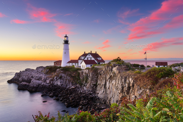 Portland Head Light - Stock Photo - Images