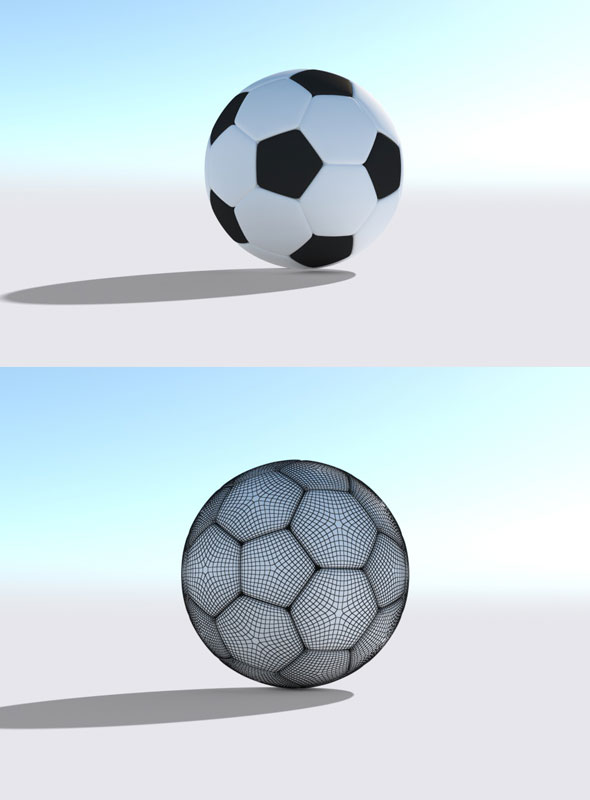 Football Model 1 - 3DOcean Item for Sale