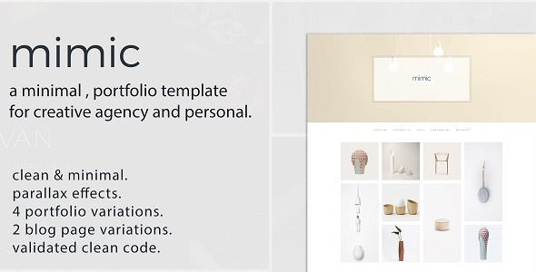 Mimic - Minimal Portfolio Template - Creative Site Templates