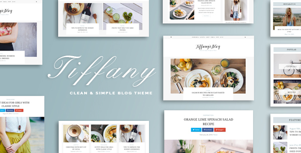 Tiffany - Clean and Simple WordPress Blog Theme