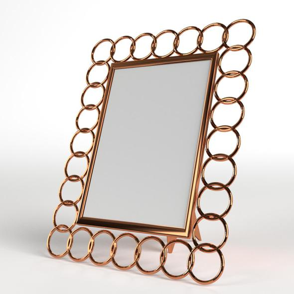 Photo Picture Frame with Copper Rings - 3DOcean Item for Sale