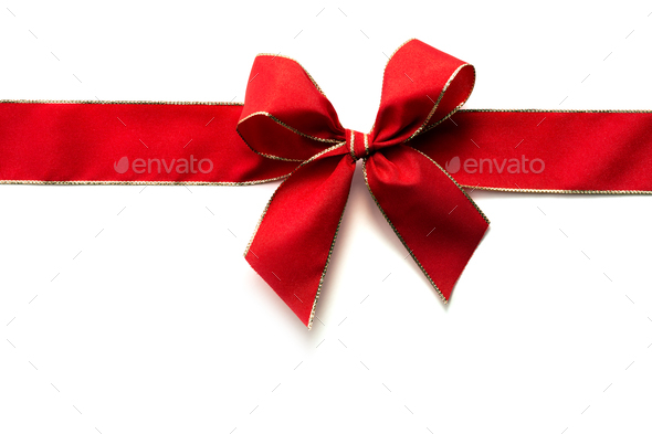 Red ribbon and bow - Stock Photo - Images