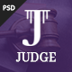 Judge - Lawyer, Attorney and Law Firm PSD Template Nulled