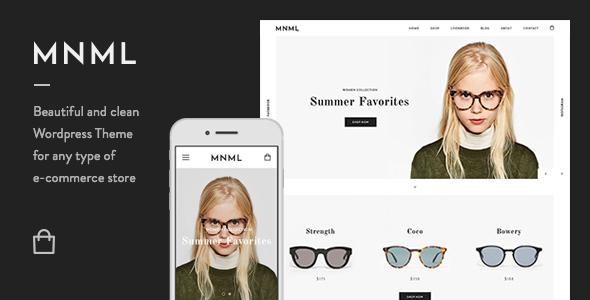 Mnml – Minimal Responsive WooCommerce Theme