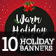 10 Christmas - Holiday Instagram Banners - GraphicRiver Item for Sale