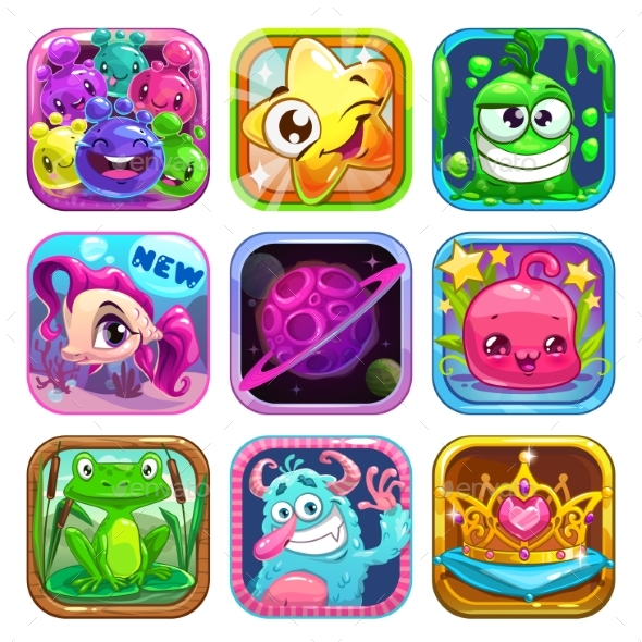 App Icons Set - Miscellaneous Game Assets