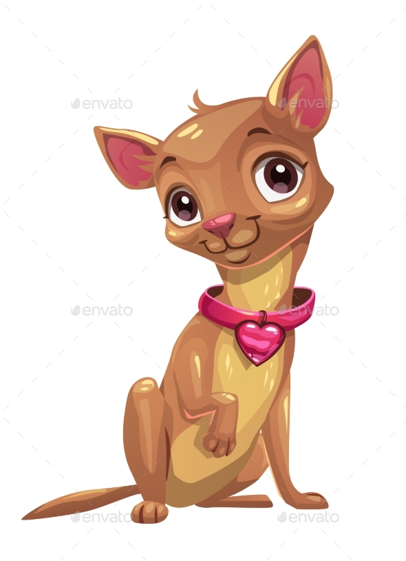 Sitting Chihuahua Puppy - Animals Characters
