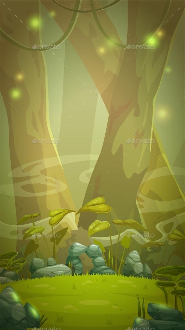 Cartoon Forest Scene Images Galleries