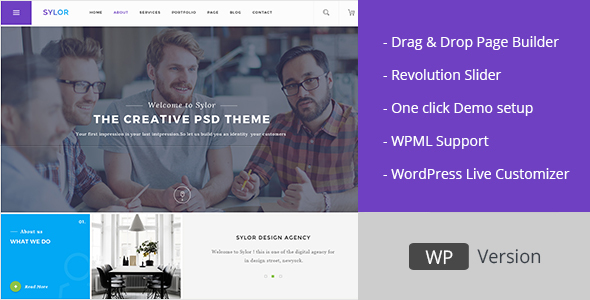 Sylor – Minimal Creative Agency WordPress Portfolio