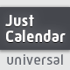 Just Calendar | Universal Generator - VideoHive Item for Sale