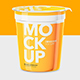 Yogurt Cup - High Angle - Mockup - GraphicRiver Item for Sale