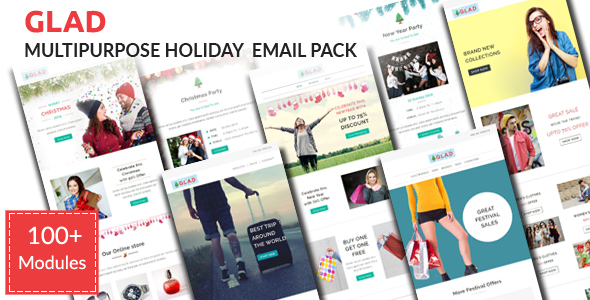 GLAD – Christmas Celebration Email Pack with Stampready Builder Access