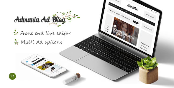 Admania – Best AD Optimized WordPress Theme For Adsense & Affiliate Enthusiasts
